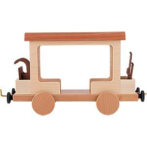 Smokers Snowmen Railroad Car for Snowman Locomotive - 15 cm / 5.9 inch