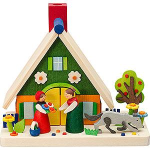 Räuchermänner Sonstige Figuren Rauchhaus Rotkäppchen - 11 cm