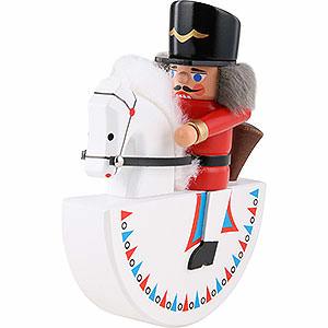 Nussknacker Soldaten Reiterlein Husar rot - 14 cm