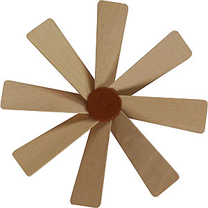 Christmas-Pyramids Accessories & Candles Replacement Wheel with Wings for Christmas Pyramid - Diameter = 10 cm / 4 inch