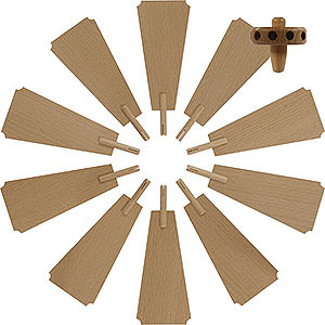 Christmas-Pyramids Accessories & Candles Replacement Wheel with Wings for Christmas Pyramid - Diameter = 30 cm / 12 inch