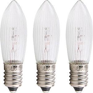 Lichterwelt Ersatzlampen Riffelkerze - Sockel E10 - 16V/3W