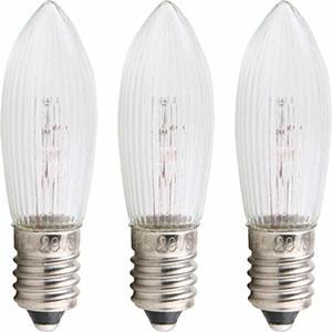Lichterwelt Ersatzlampen Riffelkerze - Sockel E10 - 55V/3W