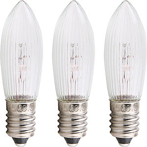 World of Light Spare bulbs Rippled Bulb - E10 Socket - 14-16V/3W