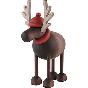 Small Figures & Ornaments Björn Köhler Mrs. Claus etc. Rudolf the Reindeer Standing - 12 cm / 4.7 inch