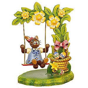 Small Figures & Ornaments Animals Rabbits Sabinchen's Flower Swing - 11 cm / 4 inch
