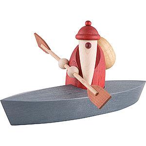 Small Figures & Ornaments Björn Köhler Santa Claus small Santa Claus in a Canoe - 9 cm / 3.5 inch