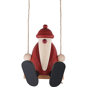 Small Figures & Ornaments Björn Köhler Santa Claus small Santa Claus on a Swing - 9 cm / 3.5 inch