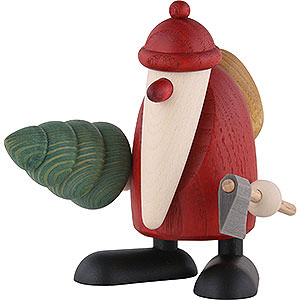 Bestseller Santa Claus with Axe and Fir Tree - 9 cm / 3.5 inch