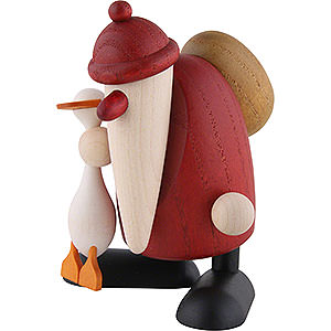 Bestseller Santa Claus with Goose Auguste - 9 cm / 3.5 inch