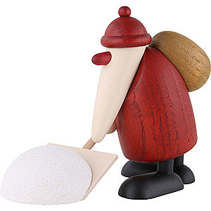 Small Figures & Ornaments Björn Köhler Santa Claus small Santa Claus with Snow Shovel - 9 cm / 3.5 inch
