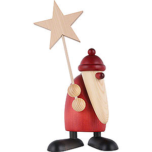 Small Figures & Ornaments Björn Köhler Santa Claus large Santa Claus with Star - 19 cm / 7.5 inch