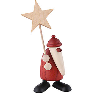 Small Figures & Ornaments Björn Köhler Santa Claus small Santa Claus with Star - 9 cm / 3.5 inch