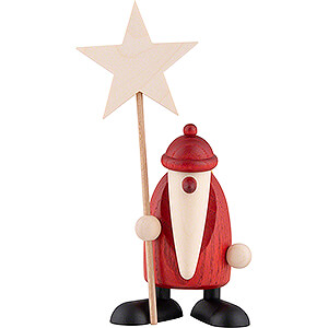 Small Figures & Ornaments Björn Köhler Santa Claus small Santa Claus with Star - 9 cm / 3.5 inch