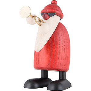 Small Figures & Ornaments Björn Köhler Santa Claus small Santa Claus with Trumpet - 9 cm / 3.5 inch