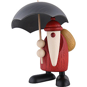 Small Figures & Ornaments Björn Köhler Santa Claus small Santa Claus with Umbrella - 12 cm / 4.7 inch