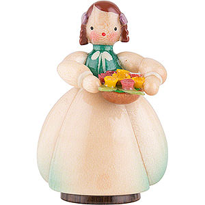 Kleine Figuren & Miniaturen Blumenkinder Schaarschmidt Blumenkind mit Blumenschale - 4 cm