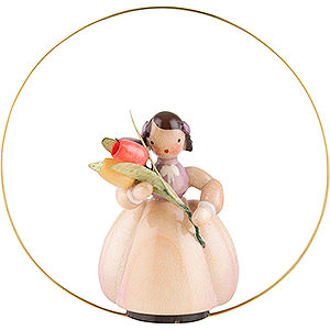 Tree ornaments Misc. Tree Ornaments Schaarschmidt Flower Child Tulip in Ring - 6 cm / 2.4 inch