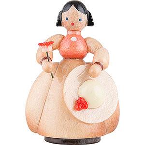 Kleine Figuren & Miniaturen Schaarschmidt Figuren Schaarschmidt Hut-Dame mit Blume - 4 cm
