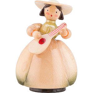 Kleine Figuren & Miniaturen Schaarschmidt Figuren Schaarschmidt Hut-Dame mit Mandoline - 4 cm