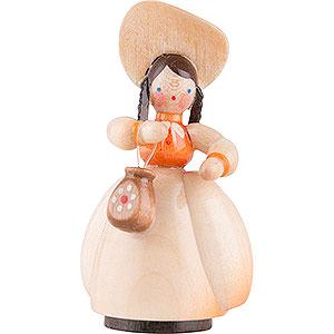 Kleine Figuren & Miniaturen Schaarschmidt Figuren Schaarschmidt Hut-Dame mit Tasche - 4 cm