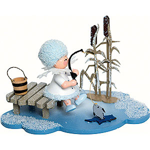 Kleine Figuren & Miniaturen Kuhnert Schneeflöckchen Schneeflöckchen Eisangler - 10x7x6 cm