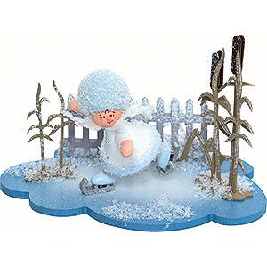 Kleine Figuren & Miniaturen Kuhnert Schneeflöckchen Schneeflöckchen Schlittschuhfahrer - 10x7x6 cm