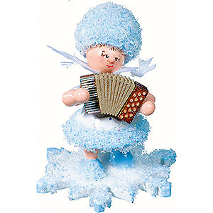 Kleine Figuren & Miniaturen Kuhnert Schneeflöckchen Schneeflöckchen mit Akkordeon - 5 cm