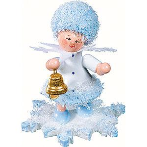 Kleine Figuren & Miniaturen Kuhnert Schneeflöckchen Schneeflöckchen mit Glöckchen - 5 cm