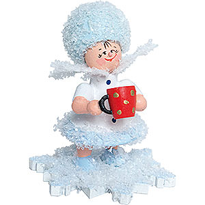 Kleine Figuren & Miniaturen Kuhnert Schneeflöckchen Schneeflöckchen mit Glühweintasse - 5 cm