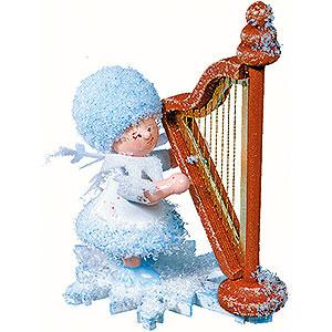 Kleine Figuren & Miniaturen Kuhnert Schneeflöckchen Schneeflöckchen mit Harfe - 5 cm
