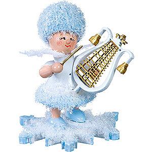 Kleine Figuren & Miniaturen Kuhnert Schneeflöckchen Schneeflöckchen mit Lyra - 5 cm
