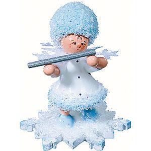 Kleine Figuren & Miniaturen Kuhnert Schneeflöckchen Schneeflöckchen mit Querflöte - 5 cm