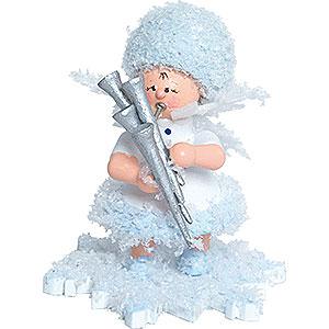Kleine Figuren & Miniaturen Kuhnert Schneeflöckchen Schneeflöckchen mit Schalmei - 5 cm