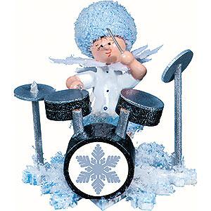 Kleine Figuren & Miniaturen Kuhnert Schneeflöckchen Schneeflöckchen mit Schlagzeug - 5 cm