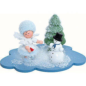 Kleine Figuren & Miniaturen Kuhnert Schneeflöckchen Schneeflöckchen mit Schneemann - 10x7x6 cm