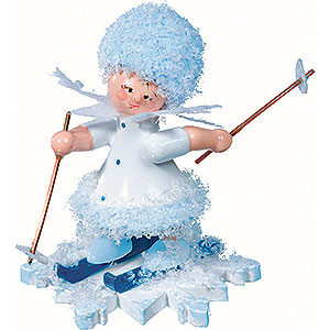 Kleine Figuren & Miniaturen Kuhnert Schneeflöckchen Schneeflöckchen mit Ski - 5 cm