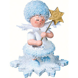 Kleine Figuren & Miniaturen Kuhnert Schneeflöckchen Schneeflöckchen mit Stern - 5 cm