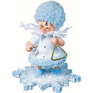 Kleine Figuren & Miniaturen Kuhnert Schneeflöckchen Schneeflöckchen mit Triangel - 5 cm