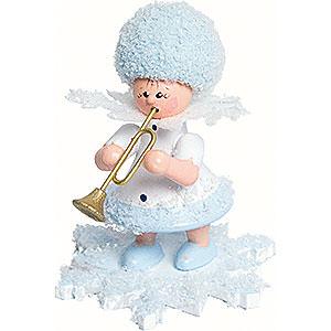 Kleine Figuren & Miniaturen Kuhnert Schneeflöckchen Schneeflöckchen mit Trompete - 5 cm