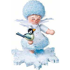 Kleine Figuren & Miniaturen Kuhnert Schneeflöckchen Schneeflöckchen mit Vögelchen - 5 cm