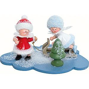 Kleine Figuren & Miniaturen Kuhnert Schneeflöckchen Schneeflöckchen und Weihnachtsmann - 10x7x6 cm