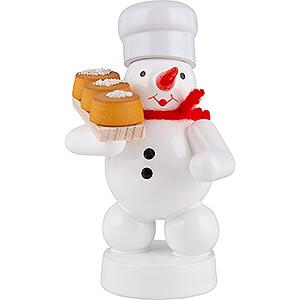 Kleine Figuren & Miniaturen Zenker Schneemänner Schneemann Bäcker mit Kuchen - 8 cm