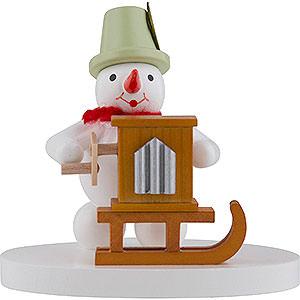 Kleine Figuren & Miniaturen Zenker Schneemänner Schneemann Drehorgelspieler - 8 cm