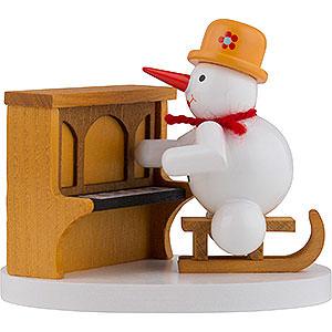 Kleine Figuren & Miniaturen Zenker Schneemänner Schneemann Klavierspieler - 8 cm