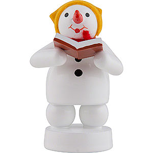 Kleine Figuren & Miniaturen Zenker Schneemänner Schneemann Musikant Sängerin - 8 cm