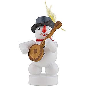 Kleine Figuren & Miniaturen Zenker Schneemänner Schneemann Musikant mit Banjo - 8 cm