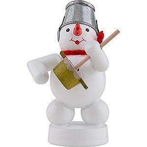 Kleine Figuren & Miniaturen Zenker Schneemänner Schneemann Musikant mit Brummtopf - 8 cm