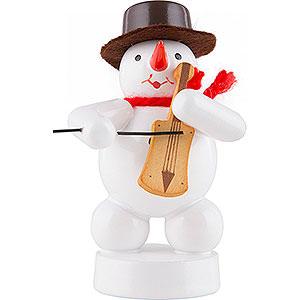 Kleine Figuren & Miniaturen Zenker Schneemänner Schneemann Musikant mit Fiedel - 8 cm