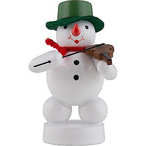Kleine Figuren & Miniaturen Zenker Schneemänner Schneemann Musikant mit Geige - 8 cm